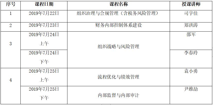 内控管理师ICM(中级)2019年7月北京地区培训考试通知